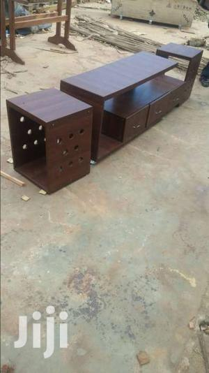 Tv Stand.Dark Walnut