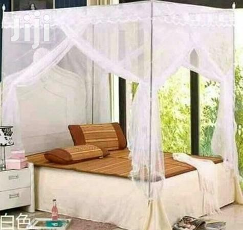 6x6 Mosquito Nets With Metal Stands - White