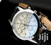 Men's Date Faux Leather Stainless Steel Wrist Watch | Watches for sale in Central Region, Kampala