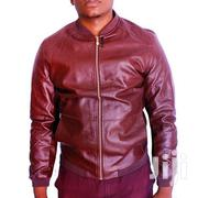 Long Sleeve Faux Leather Jacket - Maroon | Clothing for sale in Central Region, Kampala