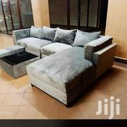 L Sofa, Glass Center Table and 2 Poufs. | Furniture for sale in Central Region, Kampala
