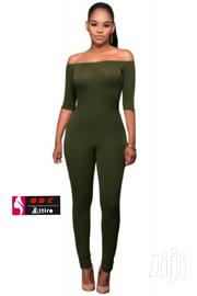 Women Olive Green Bardot Neckline Fashion Jumpsuit | Clothing for sale in Central Region, Kampala