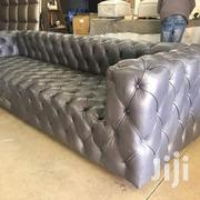 3 Seater Chesterfield In Leather | Furniture for sale in Central Region, Kampala