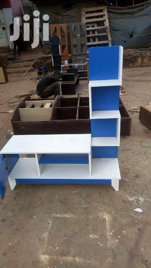 Tv Stand Blue Snd White