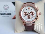 Brown Leather Versace Watch | Watches for sale in Central Region, Kampala