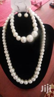 White Faux Pearl Necklace With Bracelet Set | Jewelry for sale in Central Region, Kampala