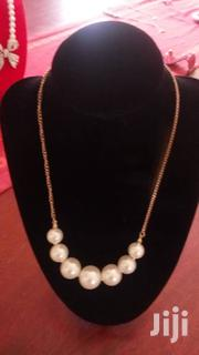 Pearl Necklace With Gold Tone Chain Necklace | Jewelry for sale in Central Region, Kampala